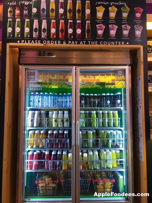 La Juiceria Superfoods at The Verve Shops - Fridge Full of Juices