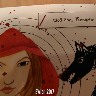 A peak of the #postcard for the #diypostcardswap #fairytail #redridinghood #wolf | by ewian