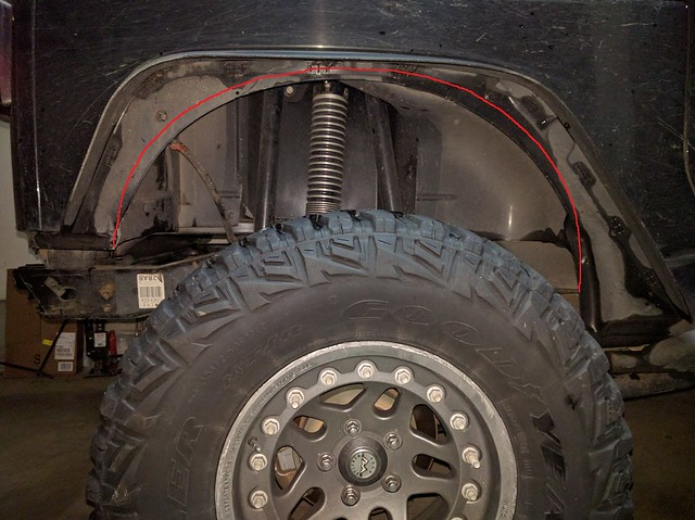 Jeep Fender Well : Trimming full rear wheel well jkowners jeep