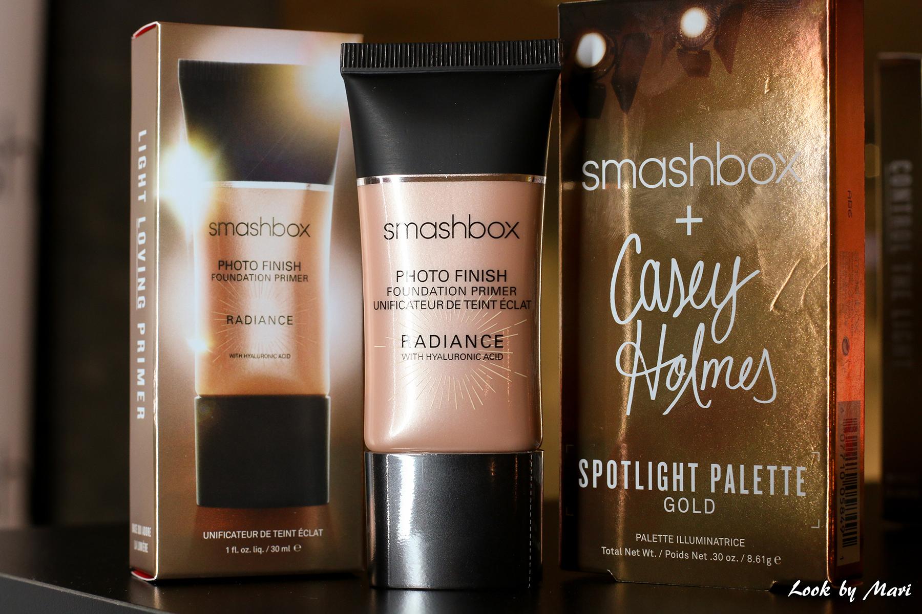 1 Smashbox x casey holmes Spotlight palette gold radiance primer review kokemuksia