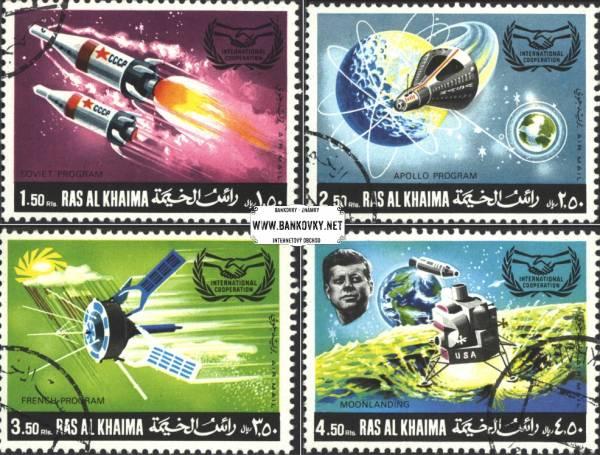 Známky Ras Al Khaimah 1969 Vesmír, razítkovaná séria