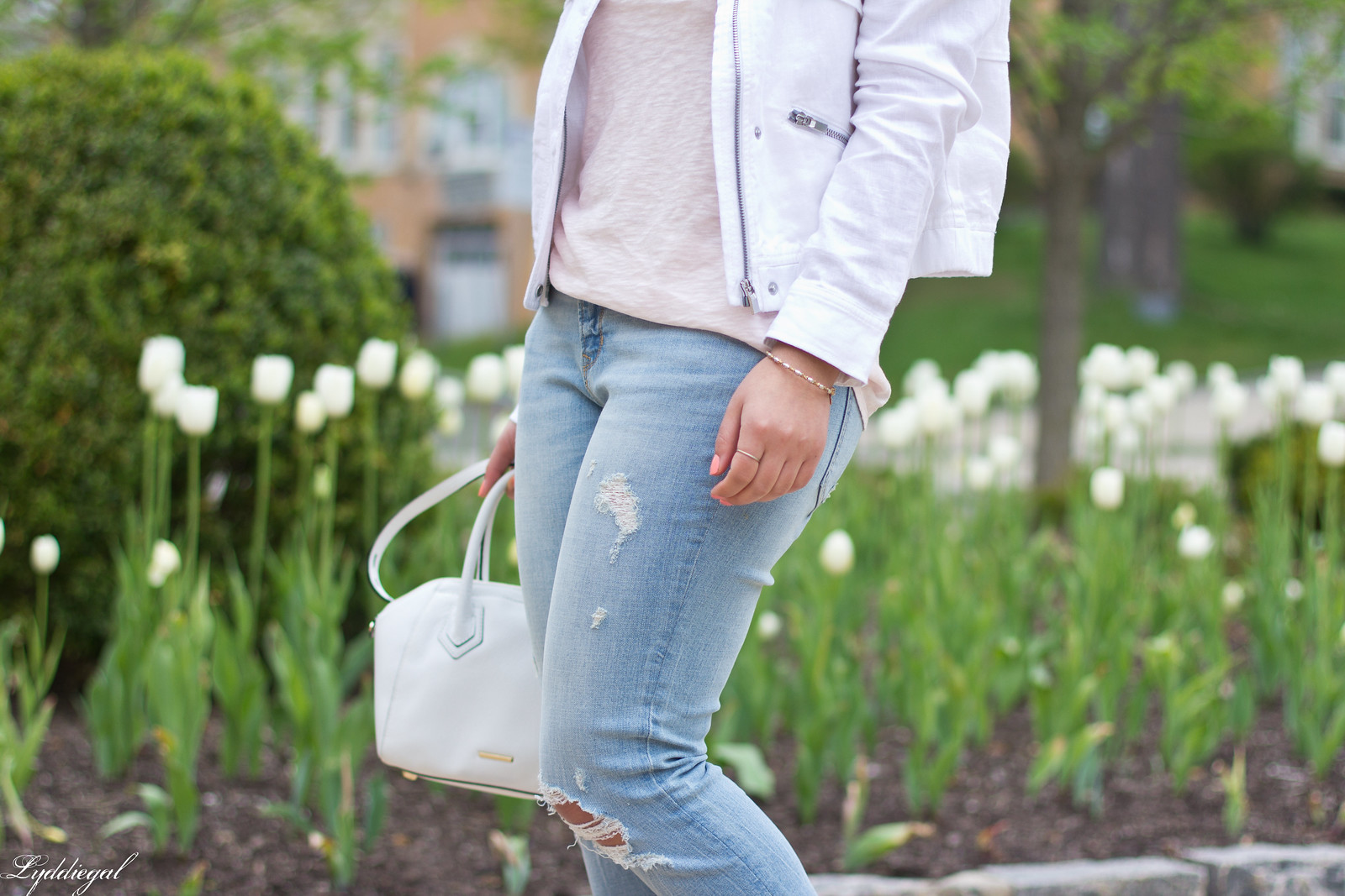 white jacket, blush tee, boyfriend jeans, scalloped mules-7.jpg