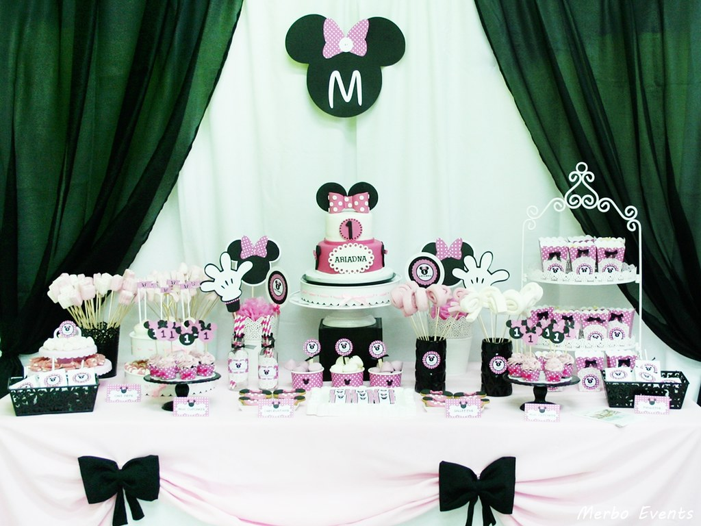mesa dulce minnie mouse