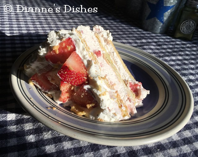 Strawberry Choux Cake: A Slice