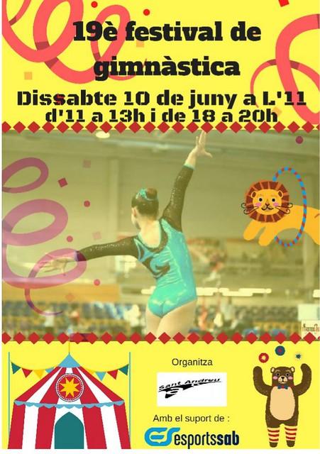 Poster 19 festival gimnastica SAB 10-6-17