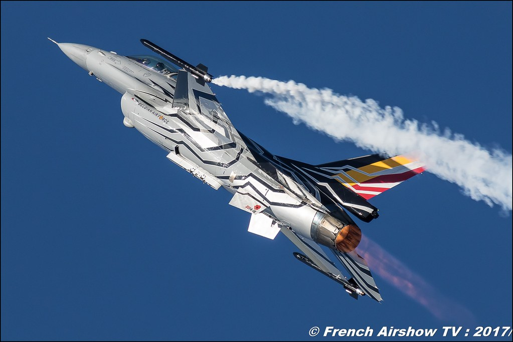 F-16 Solo Display belge , F-16 Solo Display Team , Belgian Air Force F-16 Solo Display 2017 , Meeting de l'Air BA-106 Bordeaux Merignac , meeting aerien 2017 , Airshow