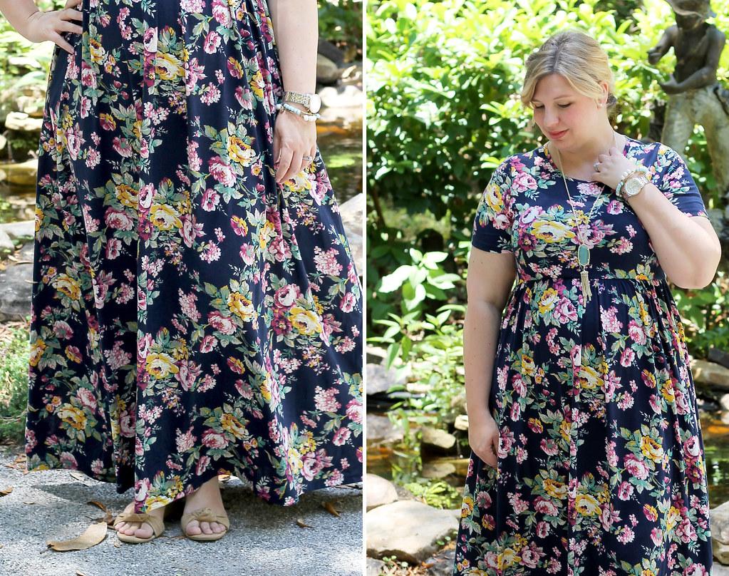 navy floral maxi dress 2