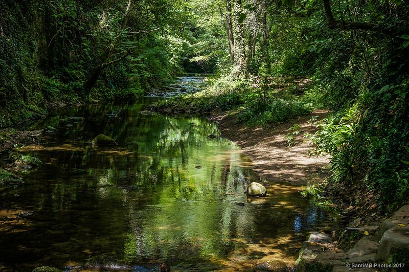 El río Brugent a la altura de Can Paulí