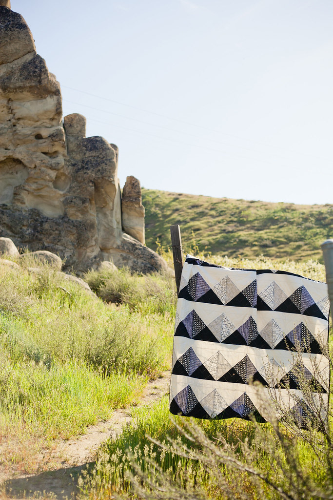 Mountain Call Quilt Outside
