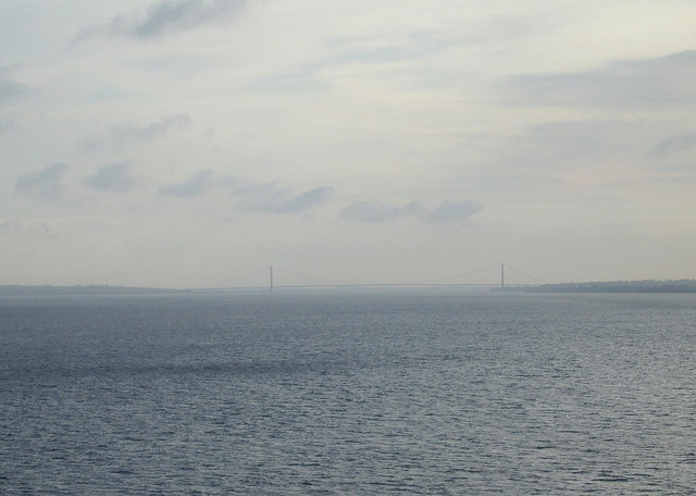 Humber Bridge from Humber Estuary