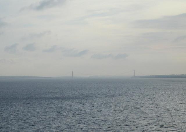 Humber Bridge from Humber Estuary