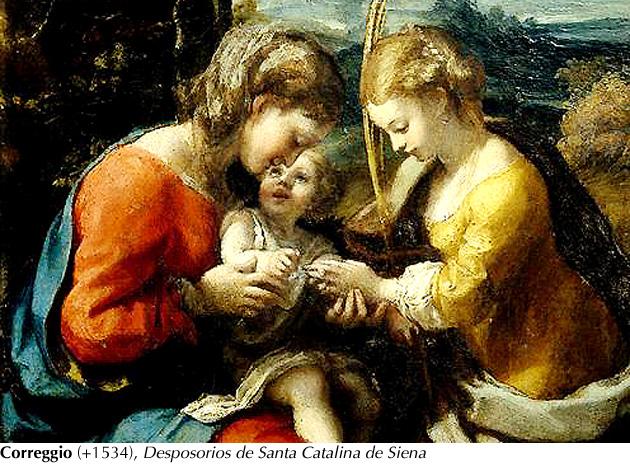 Correggio - Desposorios Sta. Catalina de Siena