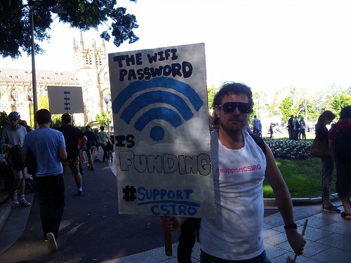 The WIFI password is funding #supportcsiro