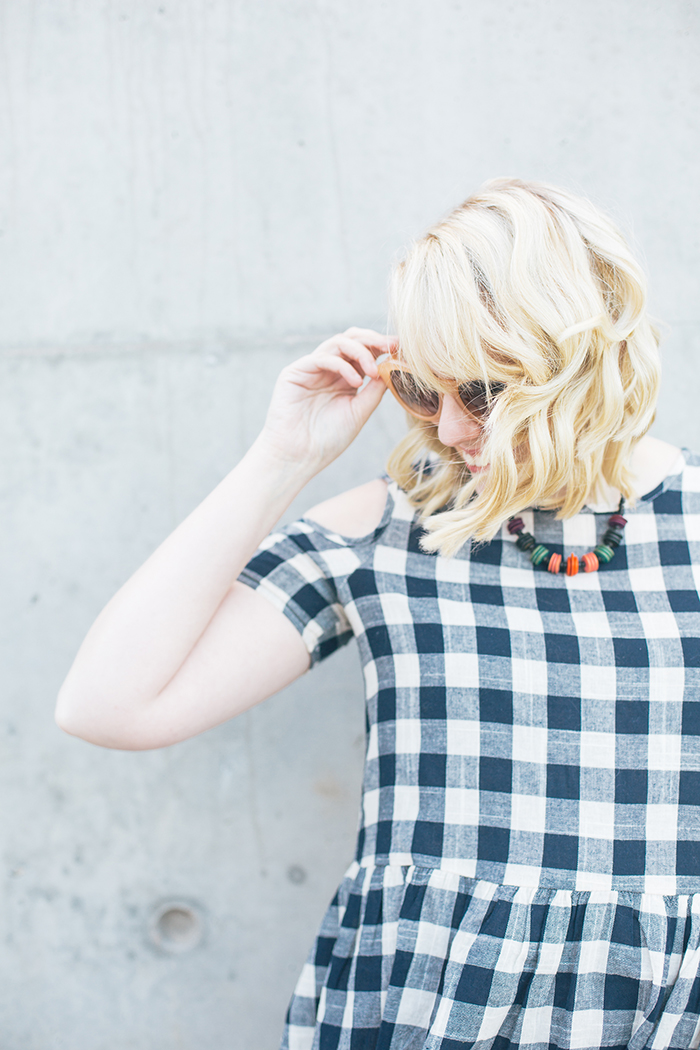austin fashion blogger writes like a girl asos cold shoulder gingham dress10