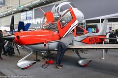 N477EU - 2017 build Cirrus SR22T Carbon, displayed at Friedrichshafen during Aero 2017