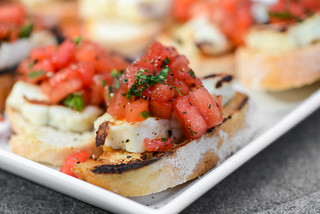 Grilled Halloumi Toasts with Watermelon Salad