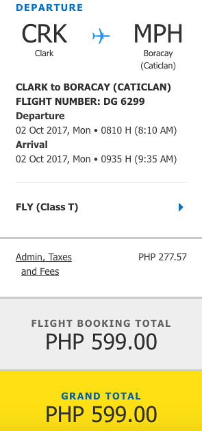 Clark to Caticlan October 2 Promo - Php599