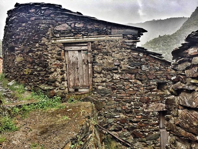 Detalle de la alquería de El Gasco en Las Hurdes