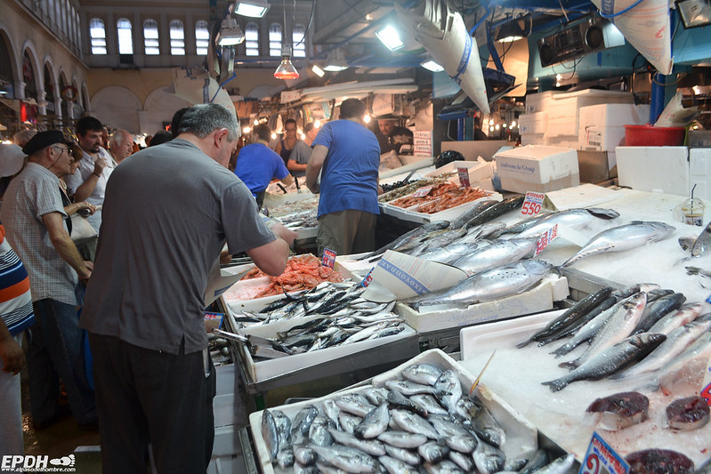 Mercado central de Atenas: Pescadería