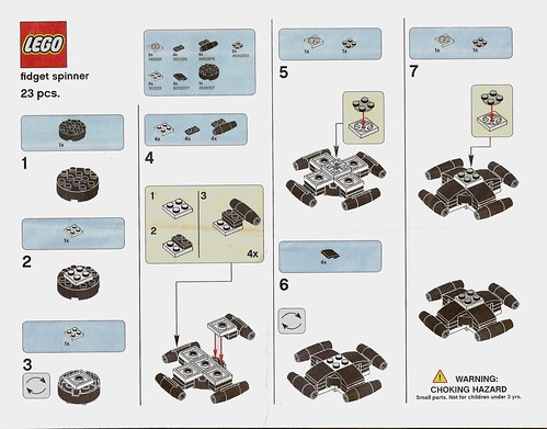 Official Lego Fidget Spinner Building Instructions The Brick Fan