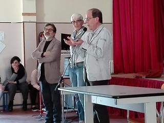 Da sinistra, il prof Gargano, Tina Ottavino e il prof. Buonaccino