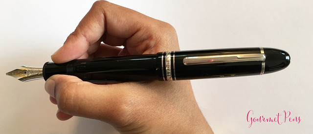 Review Montblanc Meisterstück 149 Platinum Fountain Pen - Oblique Triple Broad @Montblanc_World @AppelboomLaren 25