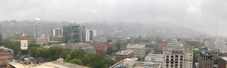 Mist-shrouded Portland. #uxinteractions