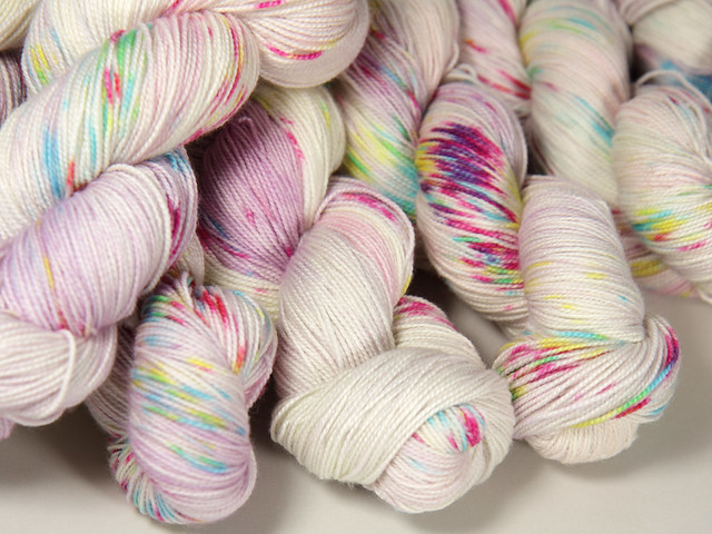 Favourite Sock – hand-dyed superwash merino 4 ply yarn 'Magical Unicorn'