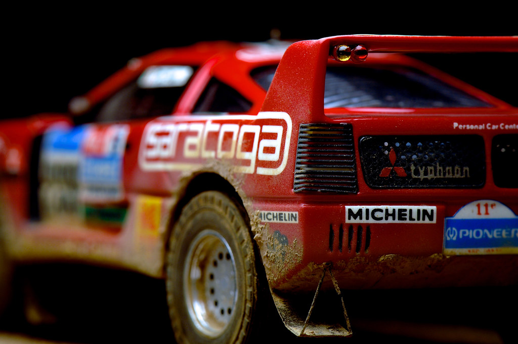 master ferrari f40 pajero paris darkar 1989 mini racing
