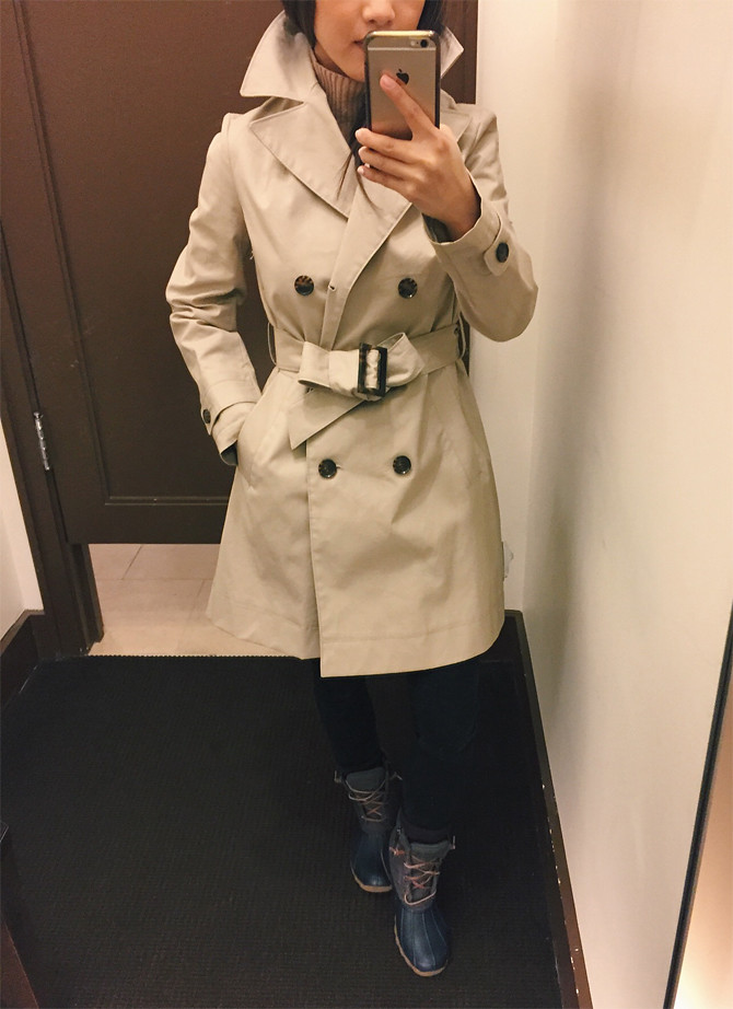 banana republic petite trench coat jackets review