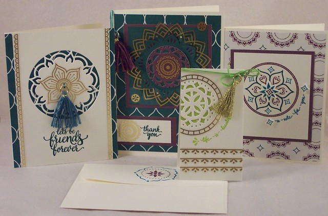 Stampin Up Eastern Palace Suite Cards