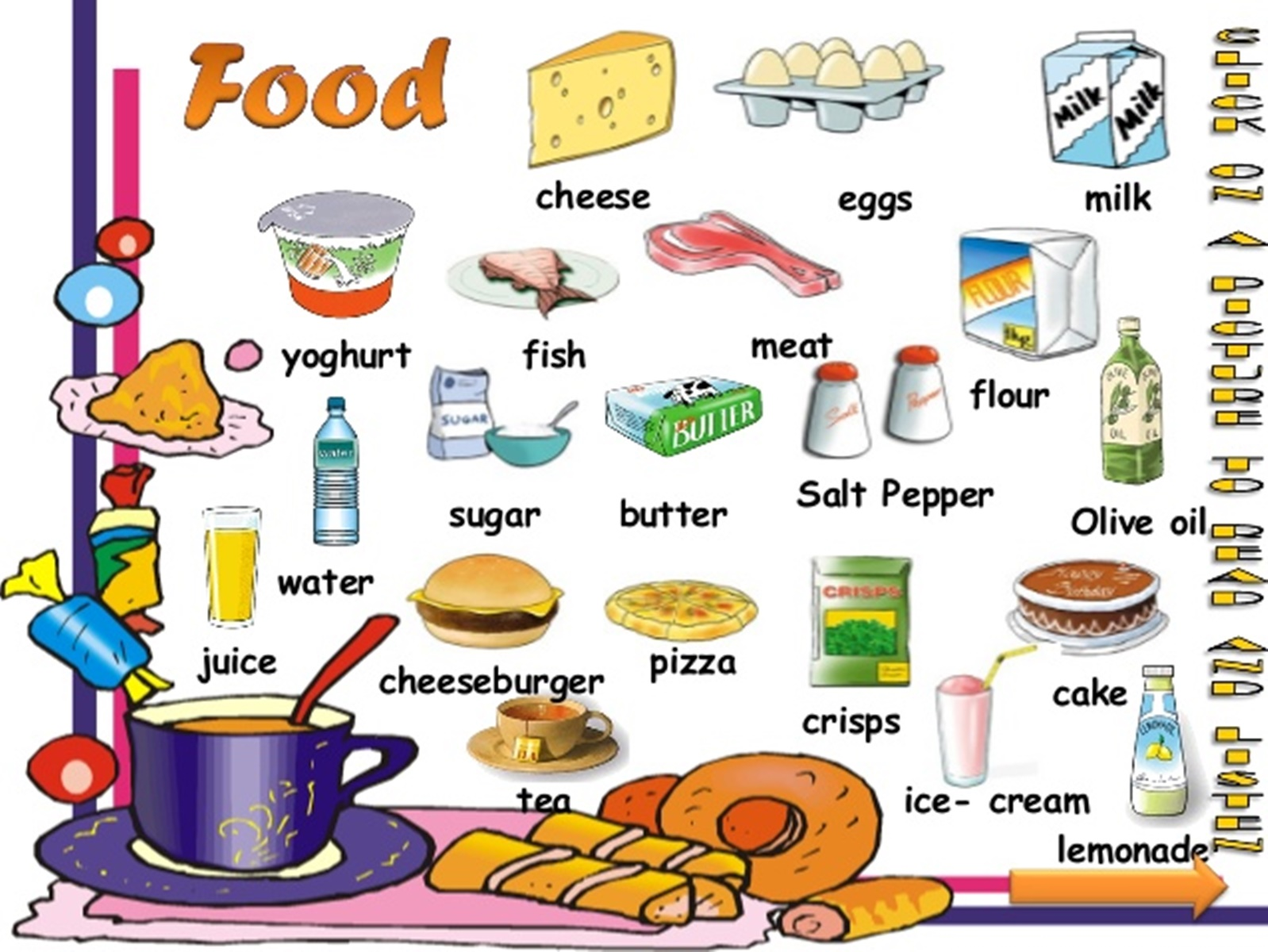 Food And Drink: Food Vocabulary