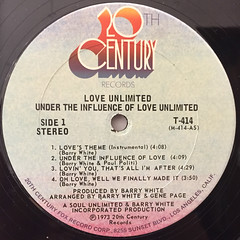 LOVE UNLIMITED:UNDER THE INFLUENCE OF... LOVE UNLIMITED(LABEL SIDE-A)