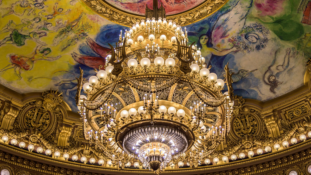 Chandelier of the palais garnier paris the chandelier mad flickr chandelier of the palais garnier paris by mustang joe aloadofball Images