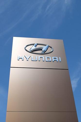 Dennis Hyundai U003eu003e Hyundai Logo | Hyundai Logo And Name Outside A Dealership  Inu2026