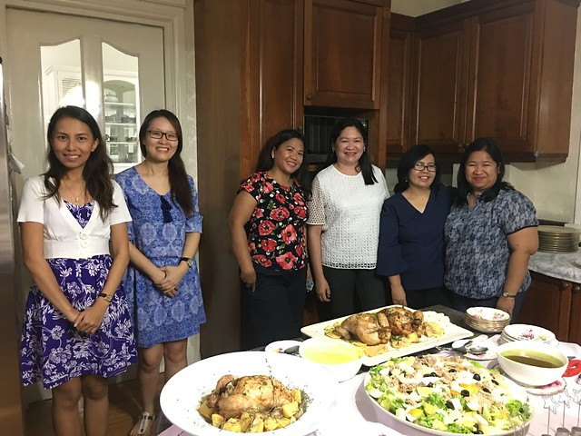 OMB dinner guests,  Lei, Eunic, Sonja, Merce, Annie, Chie