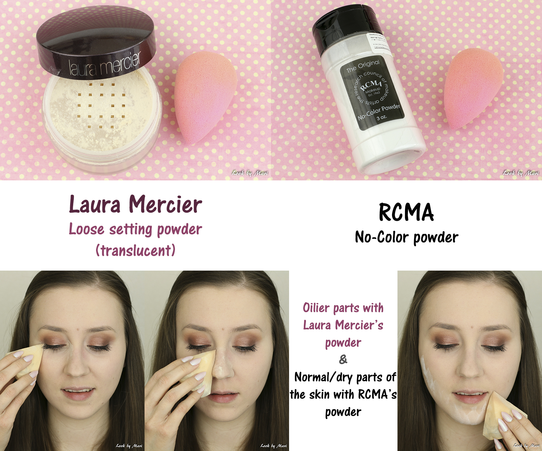 12 laura mercier loose setting powder vs rcma no-xolor powder review