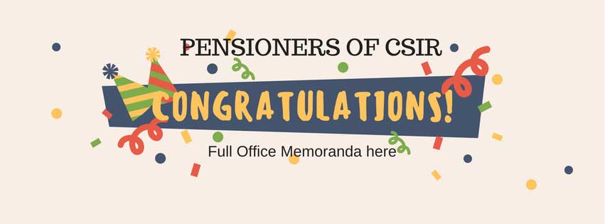 IMPLEMENTATION OF 7th CENTRAL PAY COMMISSION (7th CPC) FOR PENSIONERS IN CSIR