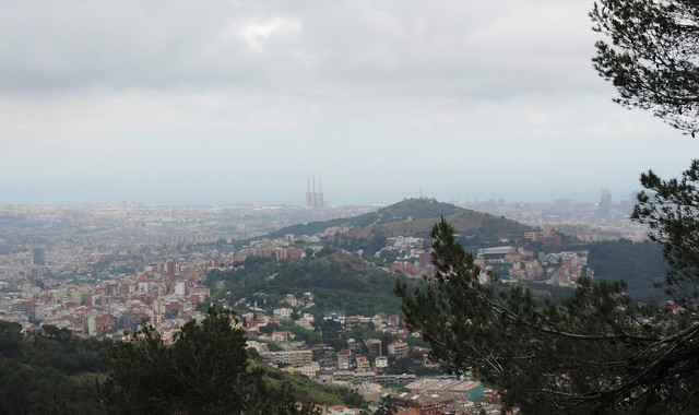 Barcelona views: View from Mount Tibidabo, Barcelona, Spain