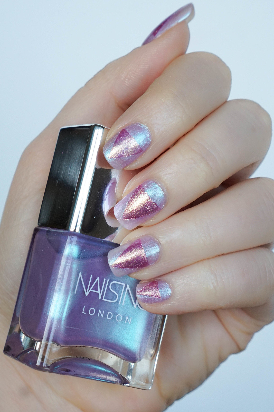 Holographic Unicorn Manicure | Nails Inc Unicorn Nail Polish Duo