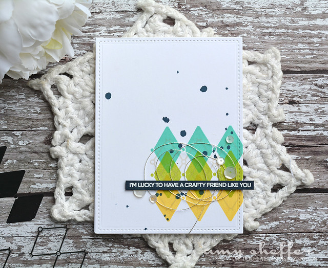 Crafty Friends Blue/Green/Yellow Card Set