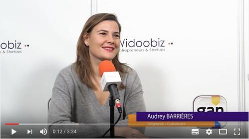 Audrey Barrières - fondatrice de Culturevent interviewée par Widoobiz au Salon des entrepreneurs