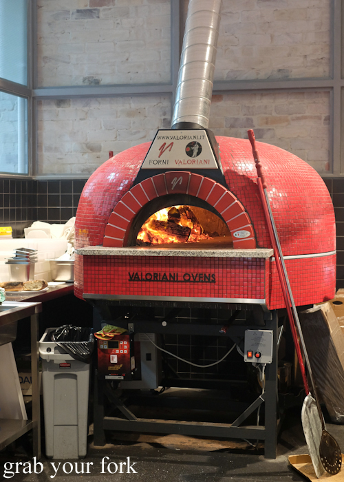 Valoriani Forni wood fired oven at the Merchants of Ultimo at Broadway Shopping Centre