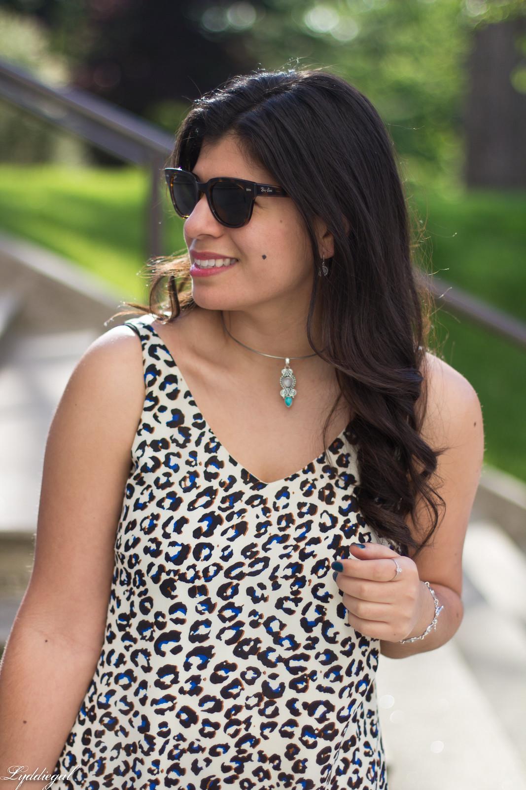 leopard print dress, denim jacket, moonstone jewelry-2.jpg