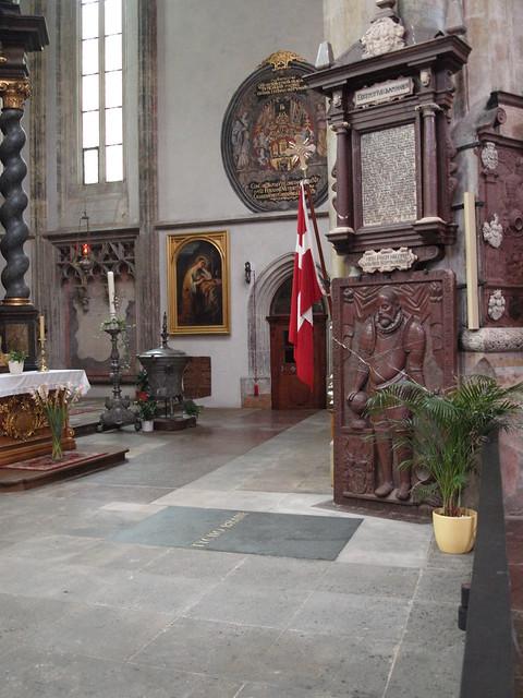 VCSE - Tycho de Brahe (1546 - 1601) sírja Prágában. - Csizmadia Szilárd felvétele.