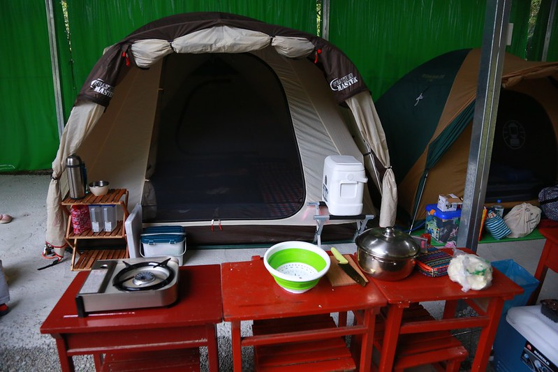 搭好帳篷了