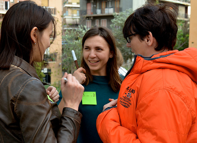 Yana welcomes volunteers for the Soup Festiva