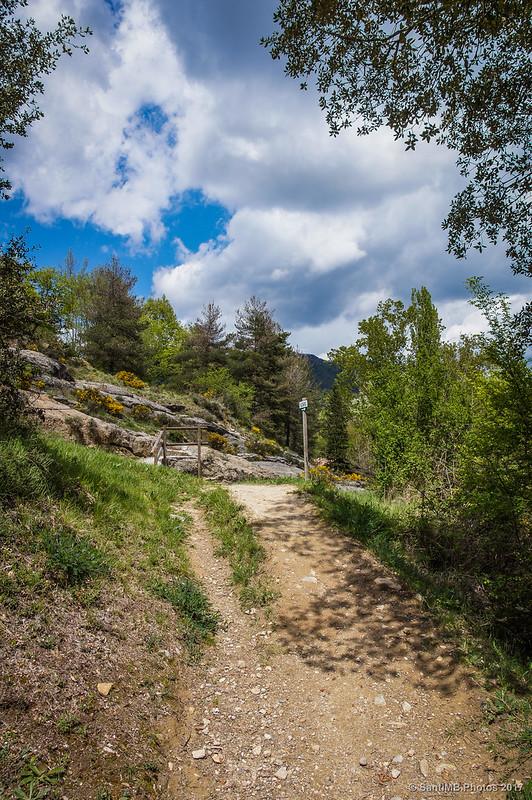 Subiendo a Borredà desde el Gorg del Salt