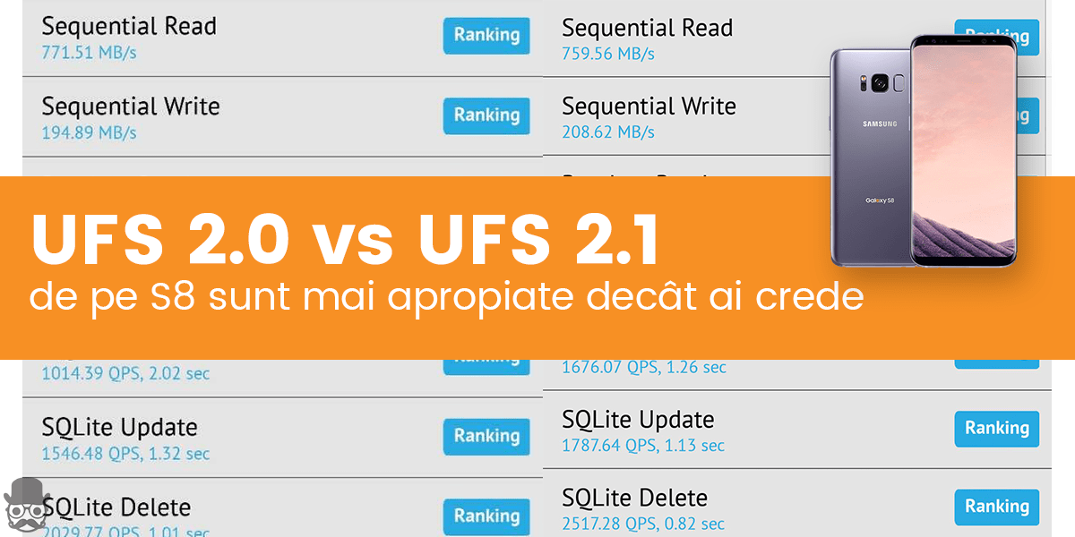 UFS 2.0 vs UFS 2.1 Galaxy S8