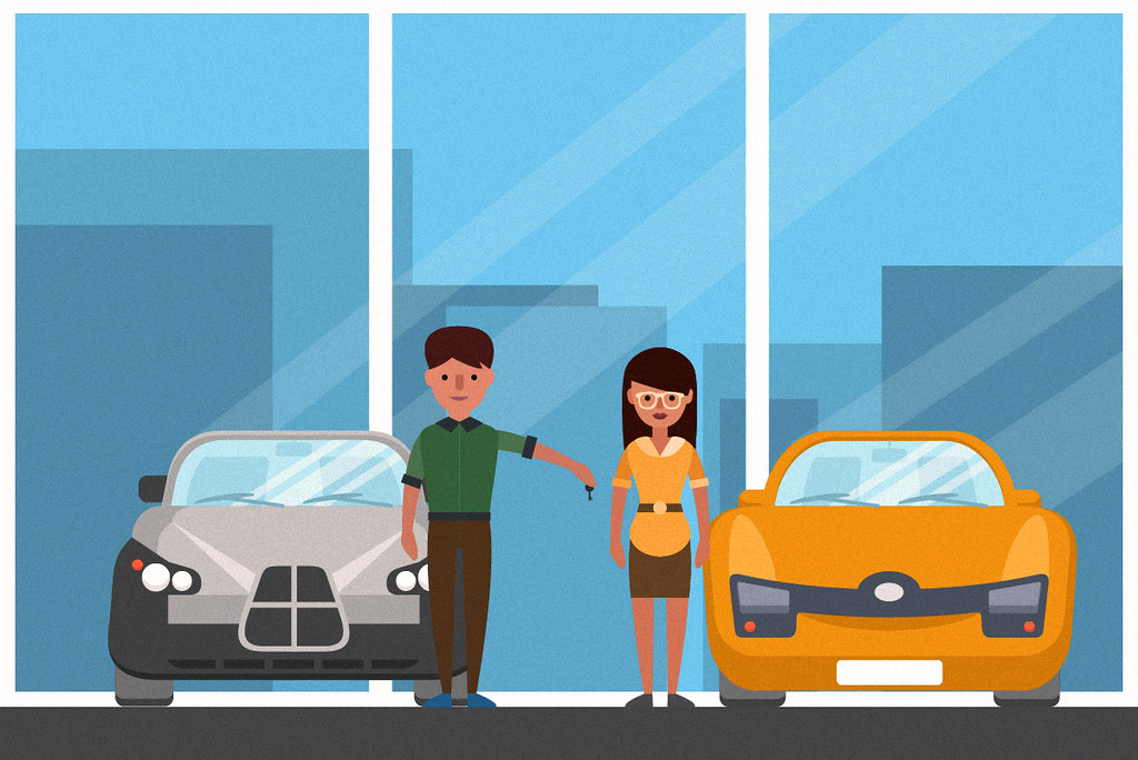 buying a new car and getting the keys at the car dealershi… | Flickr